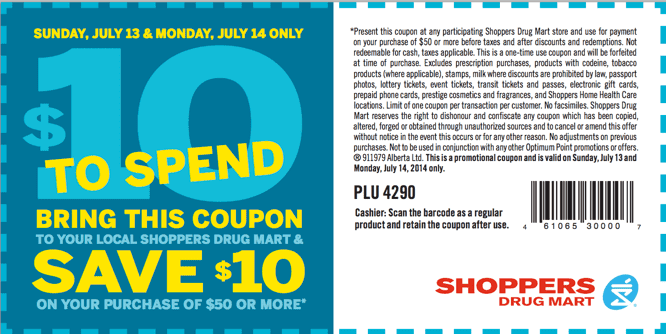 Shoppers Drug Mart Canada Couponsz1405271023 small Shoppers Drug Mart Canada Printable Coupons: Save $10 When You Spend $50, Today & Tomorrow Only!