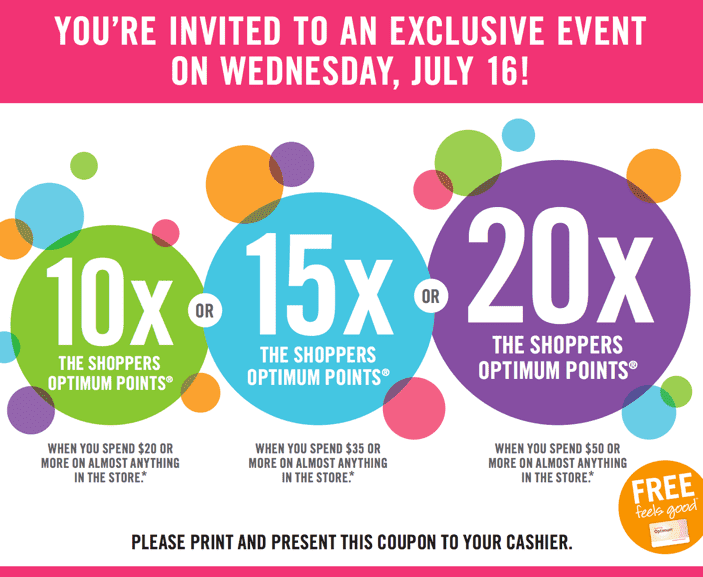 Shoppers Drug Mart Canada Printable Coupons Shoppers Drug Mart Canada Printable Coupons: Get 10x, 15x, or 20x The Optimum Points? You Choose! This Wednesday