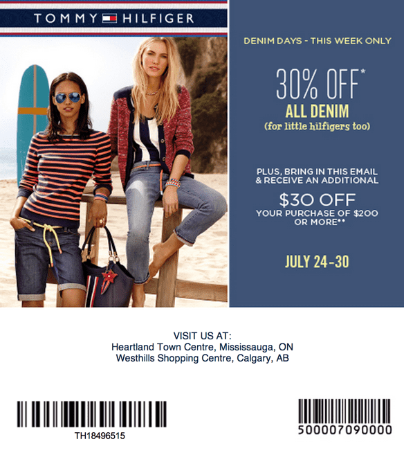 graphic relating to Tommy Hilfiger Outlet Coupon Printable named Tommy hilfiger discount codes printable 2018 / Gamestop coupon