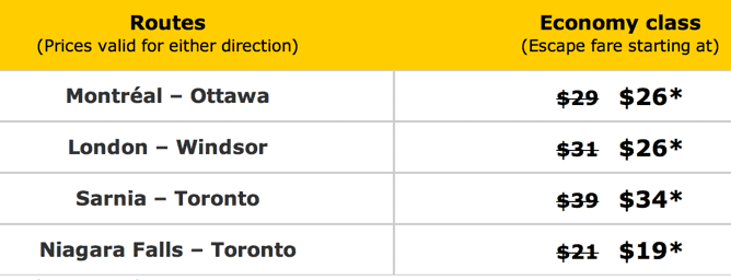 z1406649200 small VIA Rail Canada Special Offers: Discount Tuesdays, Niagara Falls To Toronto Just $19!
