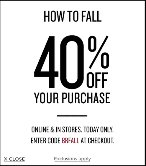 Banana Republic Canada offers Banana Republic Canada Promotional Coupon Codes: Save 40% Off Your Purchase! Today Only