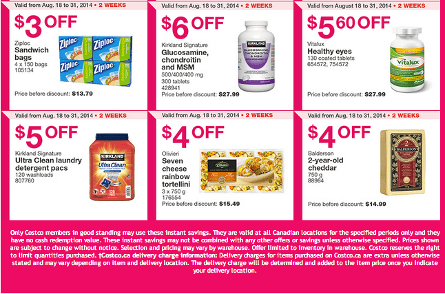 Costco Q21 Costco Canada Weekly Instant Handouts Coupons For Quebec: From August 25 To August 31, 2014