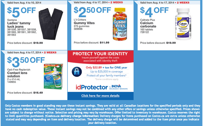 Costco West 2 Costco Canada Weekly Instant Handouts Coupons For British Columbia, Alberta, Saskatchewan & Manitoba, August 4 To August 10, 2014