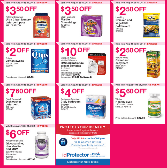 Costco West 21 Costco Canada Weekly Instant Handouts Coupons For British Columbia, Alberta, Saskatchewan & Manitoba, August 25 To August 31, 2014