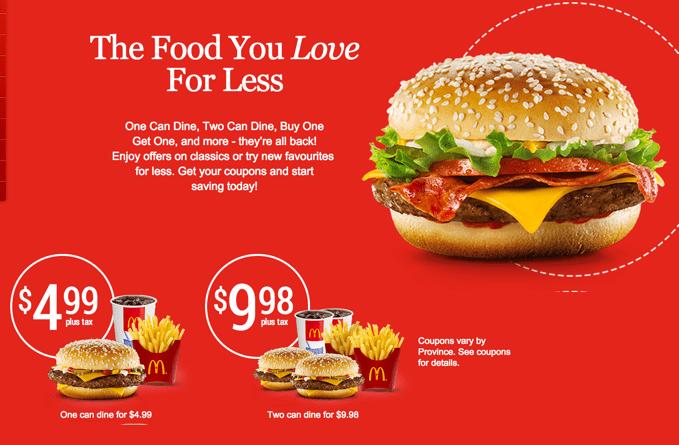 McDonald's Canada Printable Coupons McDonald's Canada NEW Coupons: Ontario, Quebec, Manitoba, Newfoundland ....
