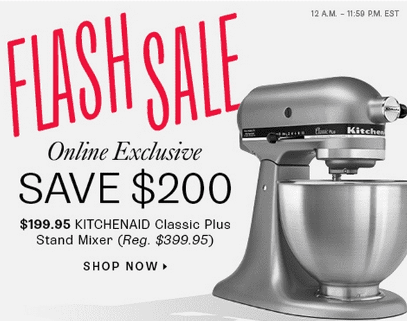 Kitchenaid Classic Mixer Sale ~ Hudson s bay canada online flash sale save on