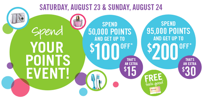 z1408671948 small Shoppers Drug Mart Canada Spend Your Points Event Bonus Redemption Deals: This Saturday, August 23 & Sunday, August 24!