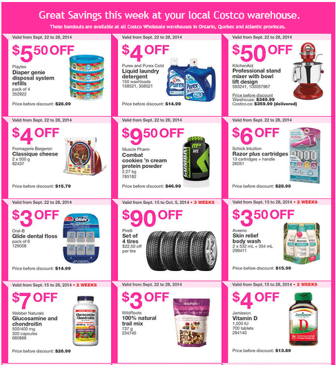 Costco e 12 Costco Canada Weekly Eastern Instant Handouts Flyers: Ontario, Quebec & Atlantic Provinces, Tuesday, September 8 Until Sunday, September 28, 2014