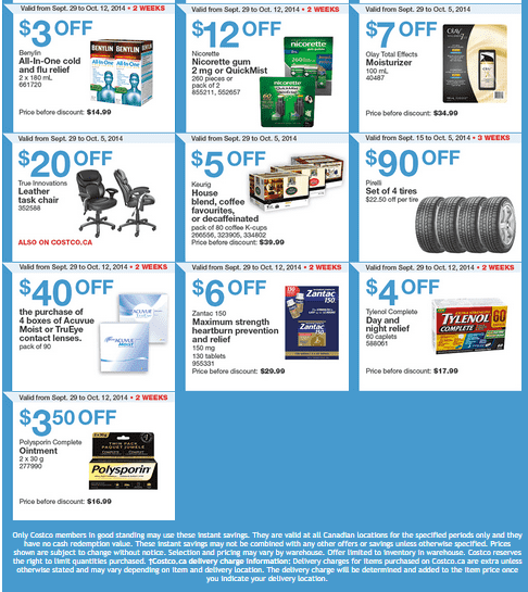 Costco w 21 Costco Canada Weekly Instant Savings Handouts Flyers For British Columbia, Alberta, Saskatchewan & Manitoba From Monday September 29 Until Sunday, October 5, 2014