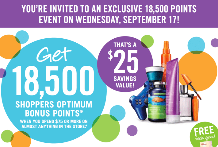 Shoppers Drug Mart Canada Deals1 Shoppers Drug Mart Canada Printable Coupons: Get 18,500 Optimum Bonus Points when You Spend $75 on Anything, Today