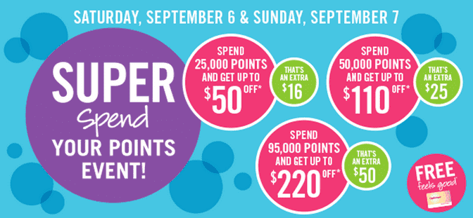 Shoppers Drug Mart Canada Offers Shoppers Drug Mart Canada Offers: Get up to $220 off at the Super Spend Your Points Event! September 6 to 7, 2014