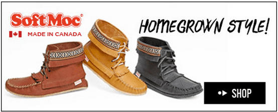 SoftMoc SoftMoc Canada Clearance Offers: Save up to 50% Off Shoes for Men, Women, Kids & Babies + Free Shipping