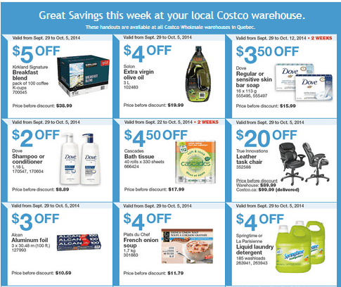 costco q1 Costco Canada Weekly Eastern Instant Handouts Flyers: Quebec Province, Monday, September 29 Until Sunday, October 5, 2014
