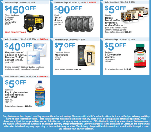 costco q2 Costco Canada Weekly Eastern Instant Handouts Flyers: Quebec Province, Monday, September 29 Until Sunday, October 5, 2014