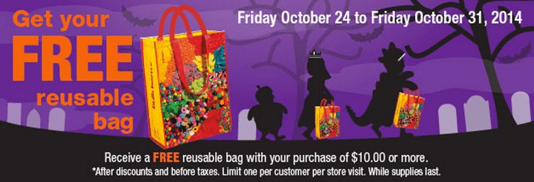 Bulk Barn Canada FREE bags Bulk Barn Canada Halloween Deals: Get Your FREE Reusable Bag with a $10 Purchase!