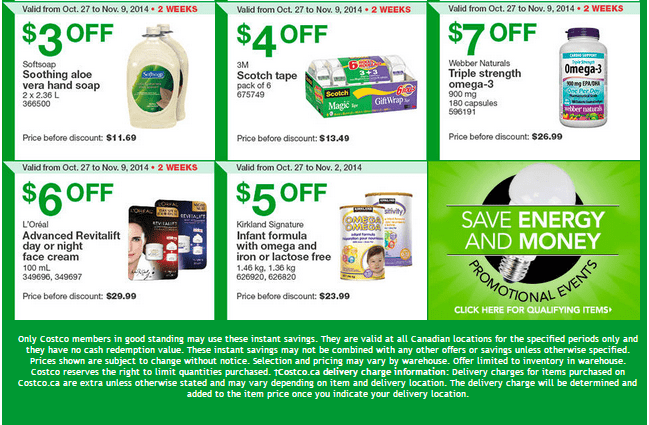 Costco w 22 Costco Canada Weekly Instant Savings Handouts Flyers For British Columbia, Alberta, Saskatchewan & Manitoba From Monday October 27 Until Sunday, November 2, 2014