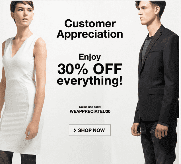 Mexx Canada Customer Appreciation Event Online Sale Mexx Canada Customer Appreciation Sale Event: Get 30% Off Everything Online Promo Code
