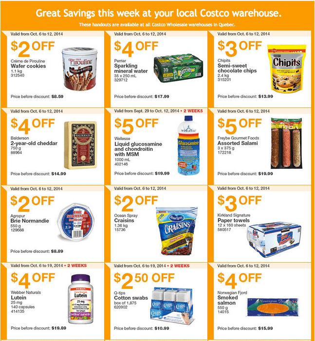 Screen Shot 2014 10 06 at 11.25.22 AM Costco Canada Weekly Eastern Instant Handouts Flyers: Quebec Province, Monday, October 6 Until Sunday, October 12, 2014