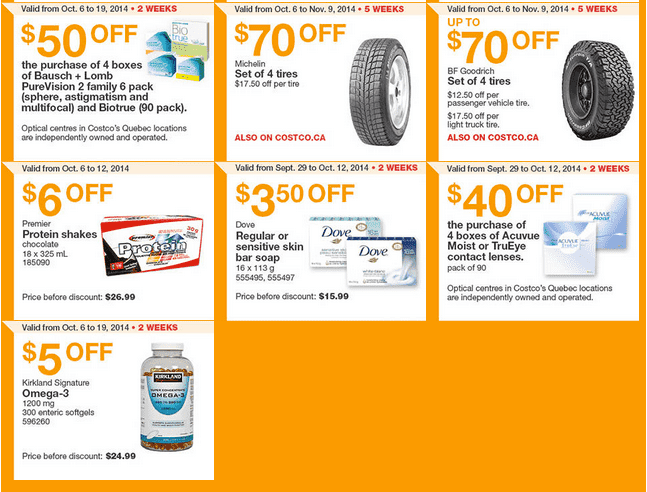 Screen Shot 2014 10 06 at 11.25.50 AM Costco Canada Weekly Eastern Instant Handouts Flyers: Quebec Province, Monday, October 6 Until Sunday, October 12, 2014
