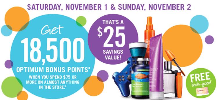 Shoppers Drug Mart Canada Offers2 Shoppers Drug Mart Canada Offers: Get 18,500 Optimum Bonus Points! November 1 2, 2014