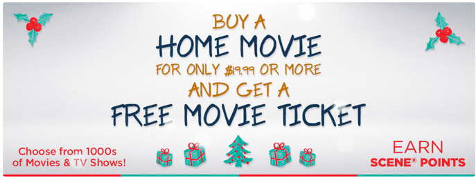 Cineplex Store Holiday Free Movie Ticket Cineplex Store Canada Holiday Promotions: FREE Movie Tickets + FREE Sipping!