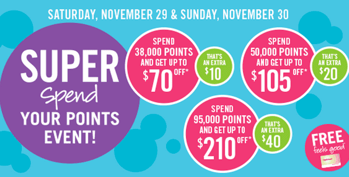Shoppers Drug Mart Canada Black Friday Shoppers Drug Mart Black Friday Super Spend Your Points Redemption Event, Save Up to $210, Sat­ur­day, Novem­ber 29 & Sun­day, Novem­ber 30