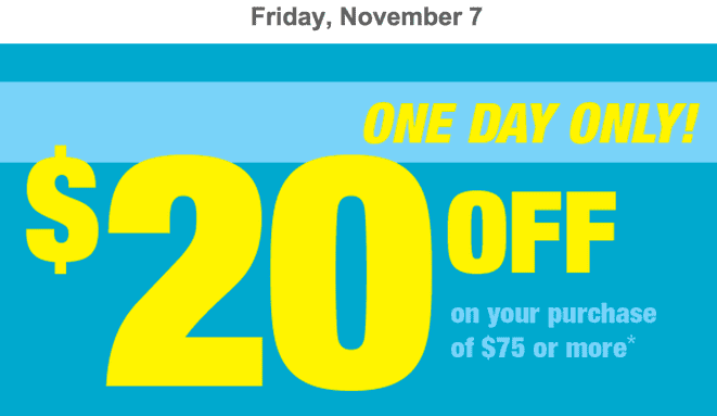 Shoppers Drug Mart Canada Coupons Shoppers Drug Mart Canada Printable Coupons: Save $20 On your Purchase Of $75 or More, This Friday, November 7