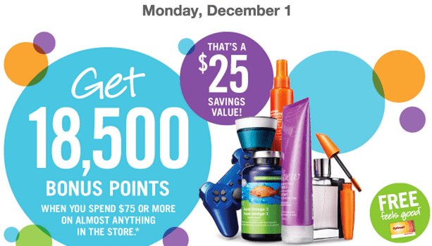 Shoppers Drug Mart Canada coupon Shoppers Drug Mart Canada Printable Coupons: Get 18,500 Bonus Points when You Spend $75 on Anything! That's $25 worth of FREE Stuff!
