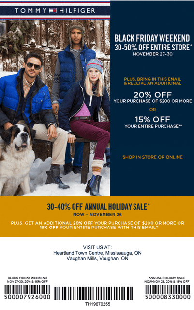 photograph about Tommy Hilfiger Coupon Printable identify Tommy hilfiger outlet discount coupons black friday - Brunos