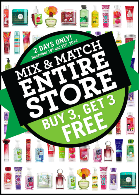 Bath Body Works Canada Boxing Week Deals Bath & Body Works Canada Boxing Week Deals: Mix & Match Entire Store Event, Buy 3 Get 3 FREE + Just $5 for Super Soft Slippers!