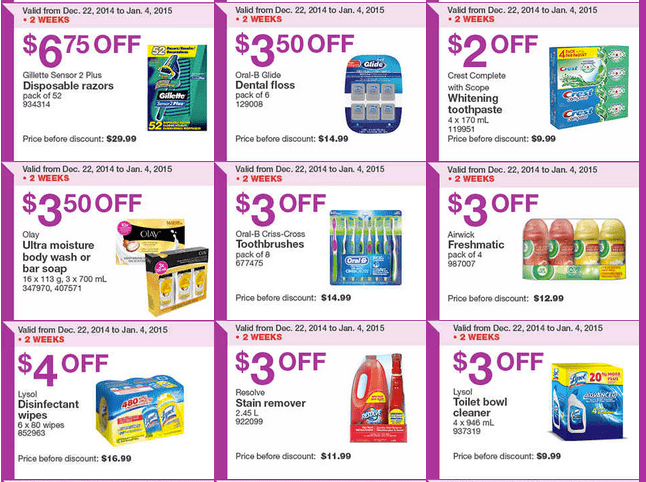 Costco East 2 Costco Canada Handouts Coupons Flyers Instant Savings For Ontario, Quebec & Atlantic Provinces, December 29, 2014 Until January 4, 2015