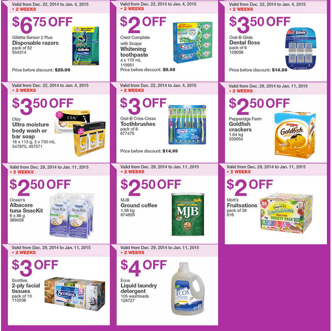 Costco West 2 Costco Canada Weekly Instant Savings Handouts Flyers For British Columbia, Alberta, Saskatchewan & Manitoba From Sunday December 29 Until Sunday, January 4, 2015