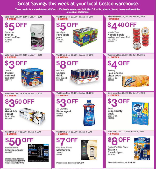 Costco west 1 Costco Canada Weekly Instant Savings Handouts Flyers For British Columbia, Alberta, Saskatchewan & Manitoba From Sunday December 29 Until Sunday, January 4, 2015