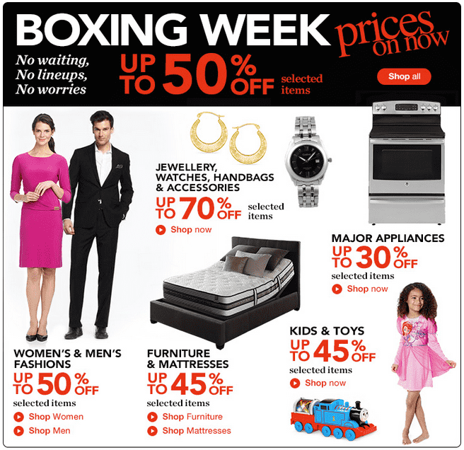 Sears 11 Sears Canada Boxing Week Sale & Boxing Day 2014 Deals & Sales: Up to 75% OFF + Weekend FREE Delivery!