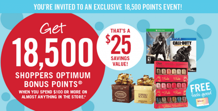 Shoppers Drug Mart Canada Printable Coupons Get Bonus Points  730x374 Shoppers Drug Mart Canada Printable Coupons: Get 18,500 Bonus Points when You Spend $100 on Anything, Wednesday, Decem­ber 16