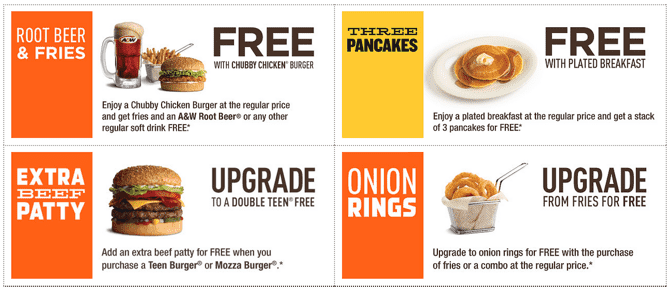 AW Coupons A&W Canada New Coupons: FREE A&W Root Beer & Fries with Chubby Chicken Burger and More Freebies!