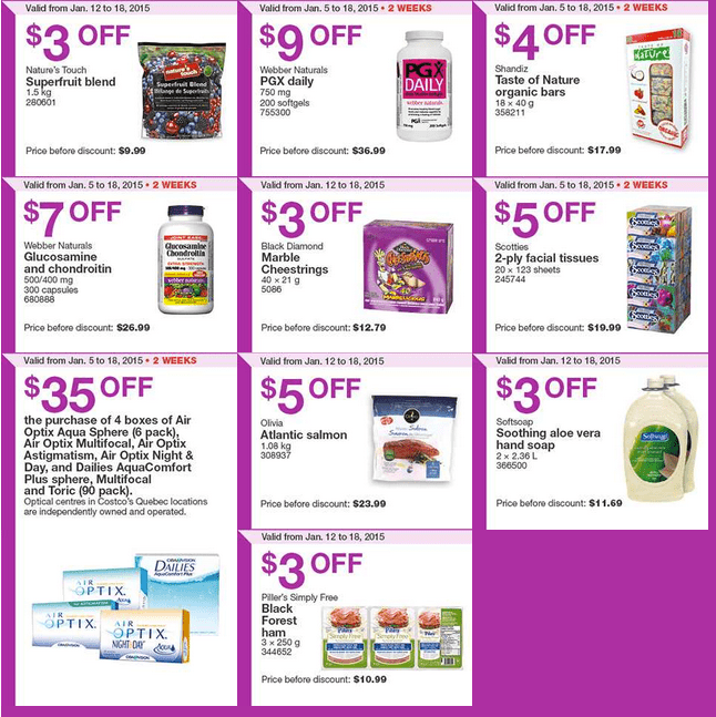 Costco East 21 Costco Canada Handouts Coupons Flyers Instant Savings For Ontario, Quebec & Atlantic Provinces, January 12 Until January 18, 2015
