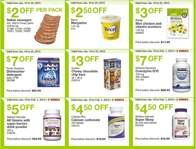 Costco East 22 Costco Canada Handouts Coupons Flyers Instant Savings For Ontario & Atlantic Provinces, January 19 Until January 25, 2015