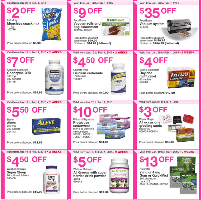 Costco Ontario 2 Costco Canada Handouts Coupons Flyers Instant Savings For Ontario & Atlantic Provinces, From Monday, January 26 To Sunday, February 1, 2015