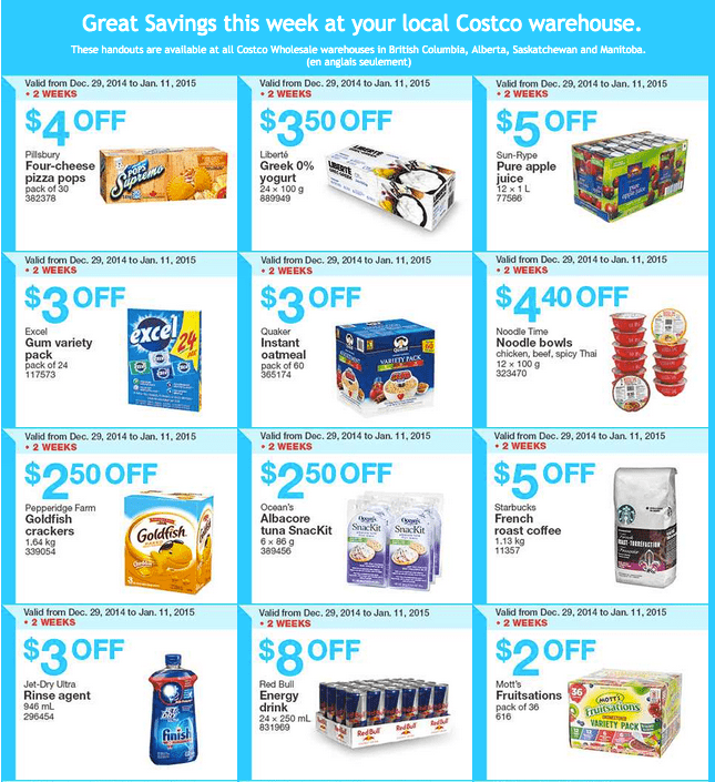 Costco West 1 Costco Canada Weekly Instant Savings Handouts Flyers For British Columbia, Alberta, Saskatchewan & Manitoba From Sunday January 5 Until Sunday, January 11, 2015
