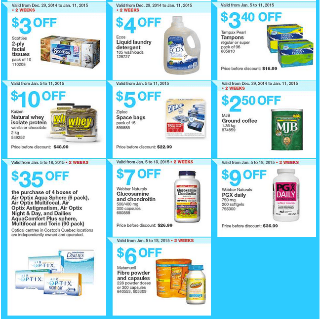 Costco West 2 Costco Canada Weekly Instant Savings Handouts Flyers For British Columbia, Alberta, Saskatchewan & Manitoba From Sunday January 5 Until Sunday, January 11, 2015