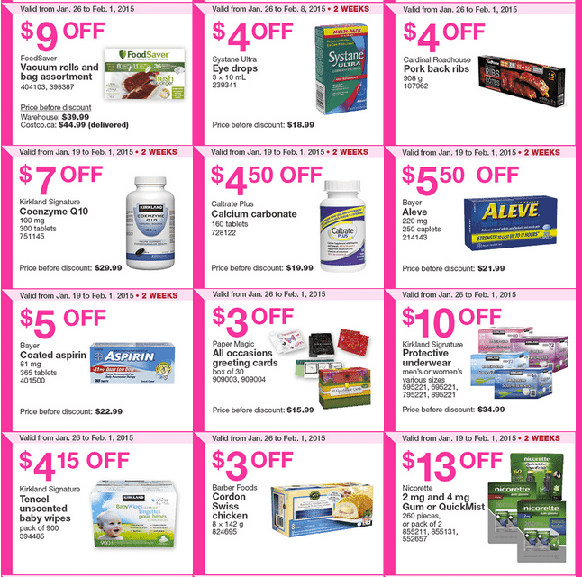 Costco West 23 Costco Canada Weekly Instant Savings Handouts Flyers For British Columbia, Alberta, Saskatchewan & Manitoba From Monday, January 26 Until Sunday, February 1, 2015