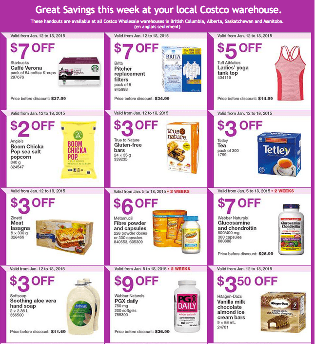 Costco west 1 Costco Canada Weekly Instant Savings Handouts Flyers For British Columbia, Alberta, Saskatchewan & Manitoba From Monday, January 12 Until Sunday, January 18, 2015