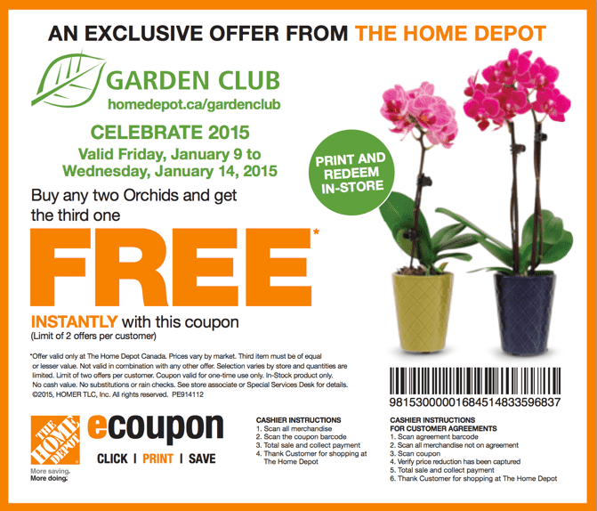 The Home Depot Canada 2015 Garden Club Coupons Buy Any