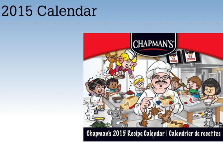 chapman ice cream free calendar
