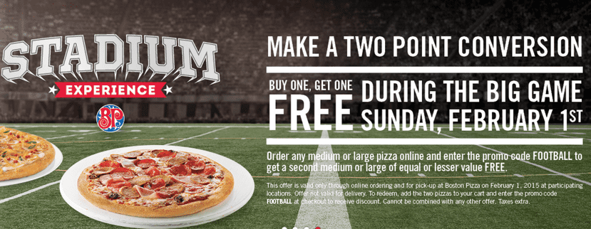 Boston pizza coupon code august 2018