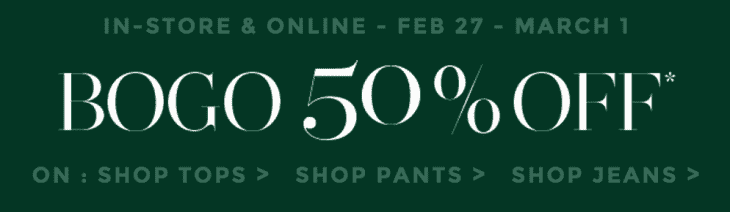 Addition Elle 730x212 Addition Elle Canada Offers: Buy One, Get One 50% Off Tops, Pants & Jeans