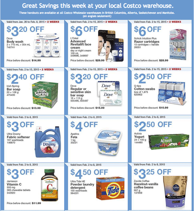 Costco West 1 Costco Canada Weekly Instant Savings Handouts Flyers For British Columbia, Alberta, Saskatchewan & Manitoba From Monday, February 2 Until Sunday, February 8, 2015