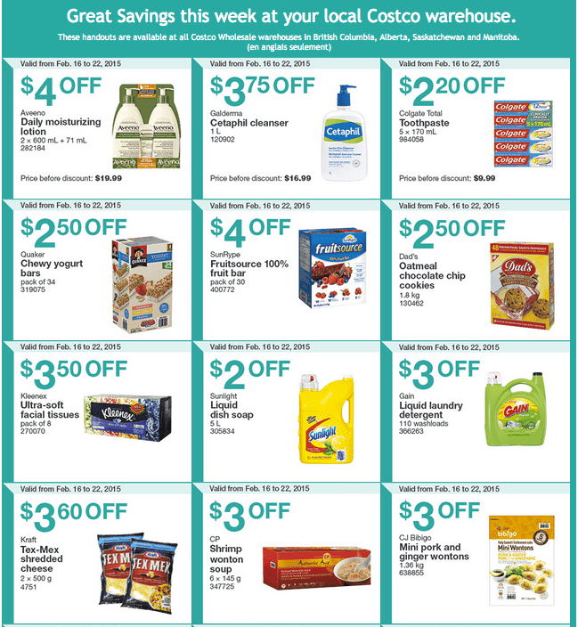 Costco West 12 Costco Canada Weekly Instant Savings Handouts Flyers For British Columbia, Alberta, Saskatchewan & Manitoba From Monday, February 16 Until Sunday, February 22, 2015