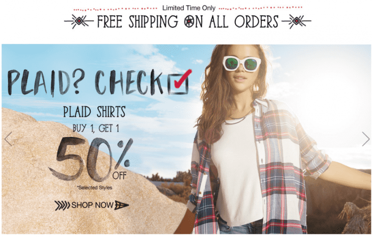 Garage 730x465 Garage Canada Offers: FREE Shipping On All Orders, Buy One, Get One 50% Off All Denim Shorts & Plaid Shirts